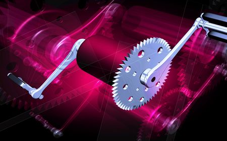 Digital illustration of  bicycle gear and pedal Stock Illustration - 6324719