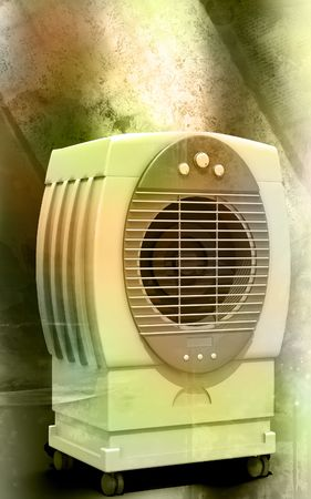 refrigerate: Digital illustration of  a Cooler in colour background