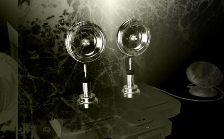 emanate: Digital illustration of  a Solar security light in colour  background   Stock Photo