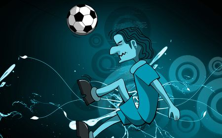 Illustration of a cartoon boy foot ball  illustration