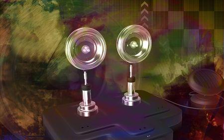Digital illustration of  a Solar security light background Stock Illustration - 6366577