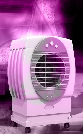 Digital illustration of  a Cooler in colour background   illustration