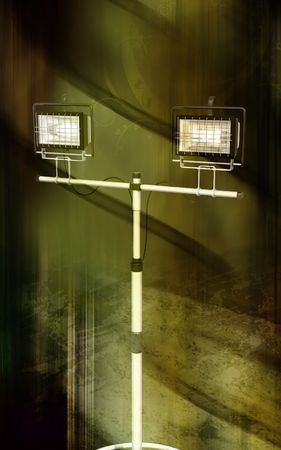 Digital illustration of  a flood light in colour background   illustration