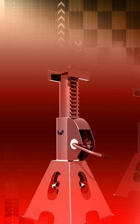 Digital illustration of Car lift in colour background  illustration