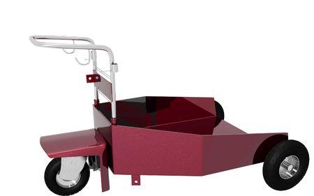 heavy duty: Digital illustration of heavy duty trolley  in isolated background
