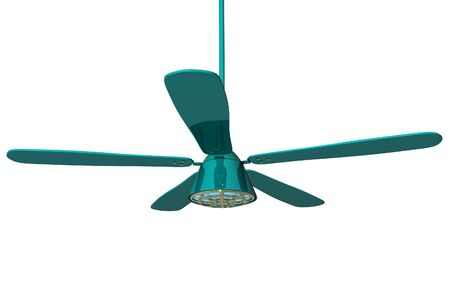 Digital illustration of ceiling fan in isolated background  illustration