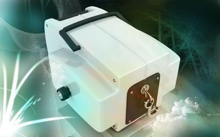 Digital illustration of Boat winch in colour background  illustration