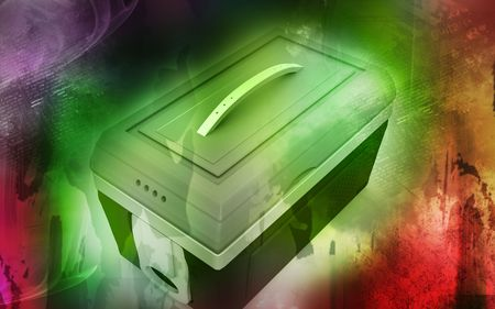 Digital illustration of  a Esky in colour background  Stock Illustration - 6463860