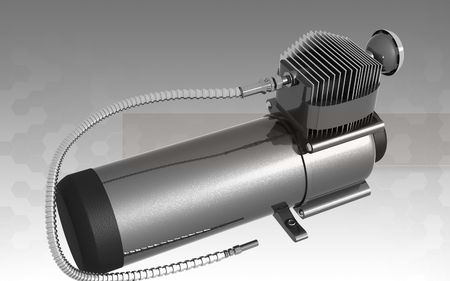 air compressor: Digital illustration of air compressor in isolated background