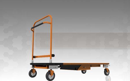 Digital illustration of Platform trolley in isolated background  illustration