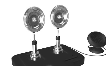 emanate: Digital illustration of  a Solar security light in isolated background
