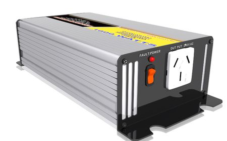 Digital illustration of inverter in isolated background  Stock Photo
