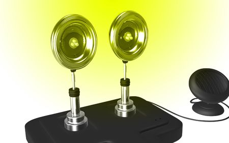 emanate: Digital illustration of  a Solar security light background   Stock Photo
