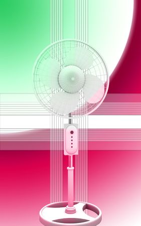 Digital illustration of  a pedestal fan in isolated  background  Stock Illustration - 6560881