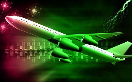 aeronautic: Digital illustration of Aeroplane with isolated background  Stock Photo