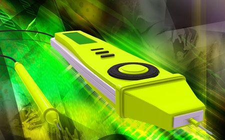 multimeter: Digital illustration of digital multi mater  in colour background