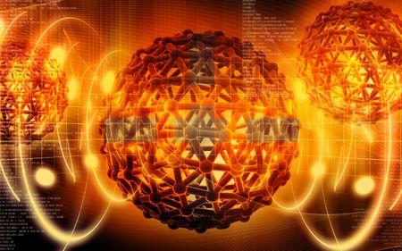 Digital illustration of gene in colour background Stock Illustration - 6686463
