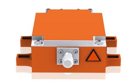 Digital illustration of Medical laser in isolated background  illustration