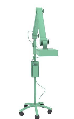 Digital illustration of  teeth whitening machine  in isolated background  illustration