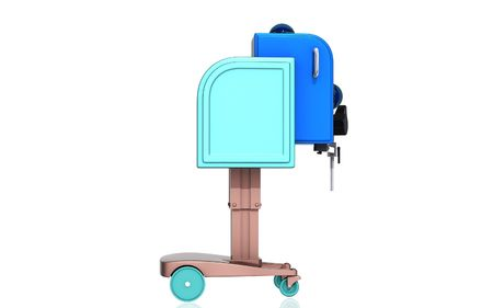 Digital illustration of  machine for orthopaedic  in isolated  background  illustration