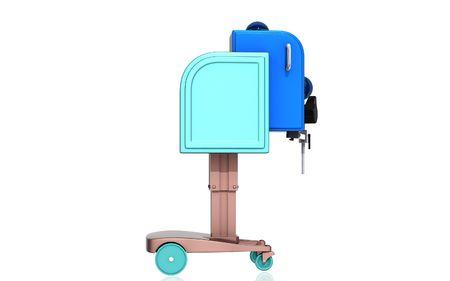 orthopaedic: Digital illustration of  machine for orthopaedic  in isolated  background