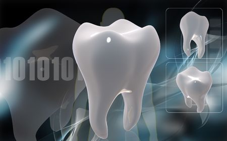 domestic life: Digital illustration of teeth in colour background    Stock Photo