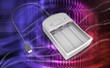 charger:  Digital illustration of AAA Charger in colour background  Stock Photo