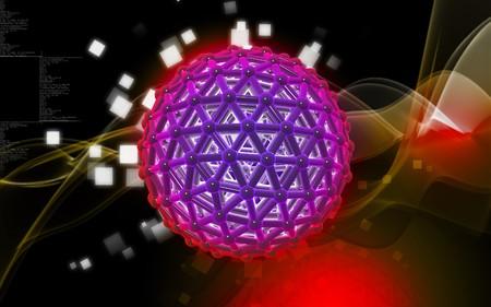 Digital illustration of gene in colour background Stock Illustration - 6847920