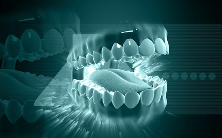 Digital illustration of  mouth in colour background  Stock Illustration - 6847822