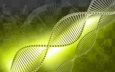 Digital illustration DNA structure  in colour background  Stock Illustration - 6866850