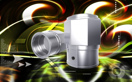 tubeless: Digital illustration of Valve caps in colour background  Stock Photo
