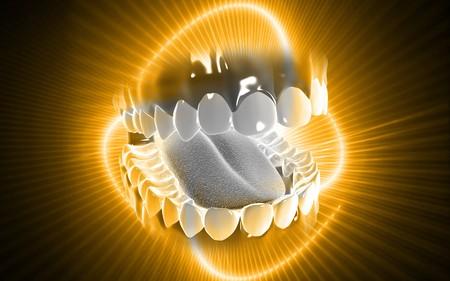 Digital illustration of  kidney in colour background   Stock Photo