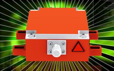 Digital illustration of Medical laser in colour background  illustration