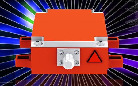 electronically: Digital illustration of Medical laser in colour background