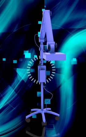 Digital illustration of  teeth whitening machine  in colour background Stock Illustration - 6923594