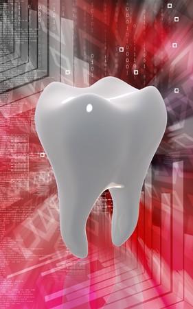 Digital illustration of teeth in colour background    illustration