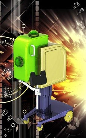 orthopaedic: Digital illustration of  machine for orthopaedic  in colour  background