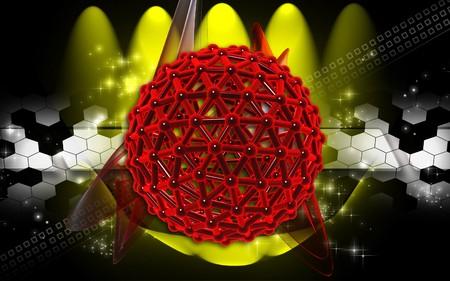 Digital illustration of gene in colour background  Stock Illustration - 7099982