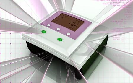 Digital illustration of  blood pressure monitor in colour  background Stock Illustration - 7090688