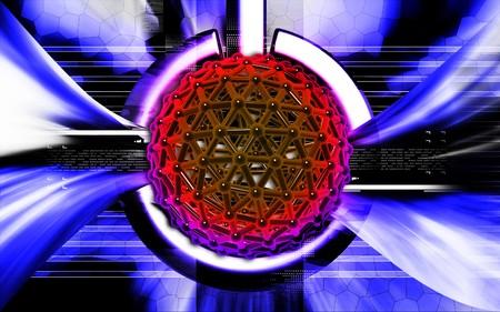 Digital illustration of gene in colour background Stock Illustration - 7151423
