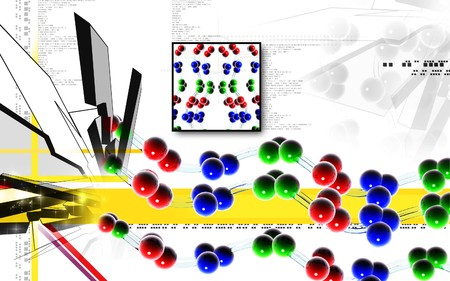 clone: Digital illustration DNA structure  in colour background   Stock Photo