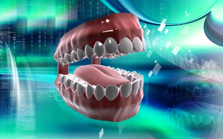 Digital illustration of  Mouth in colour background  Stock Illustration - 7420456