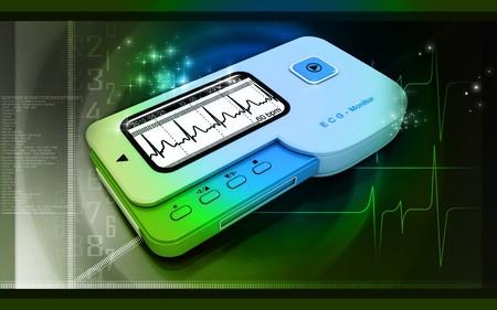 Digital illustration of  ECG  in  colour  background Stock Illustration - 7429560