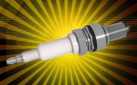 plug in: Digital illustration of Spark plug in colour background