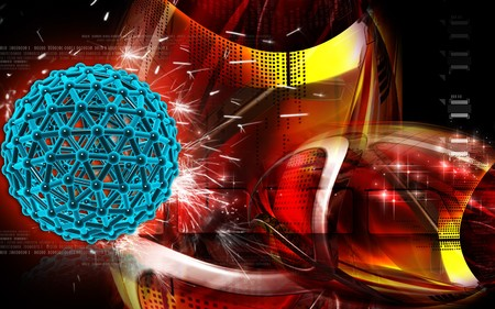 Digital illustration of gene in colour background Stock Illustration - 7437666