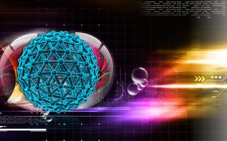 Digital illustration of gene in colour background Stock Illustration - 7460804