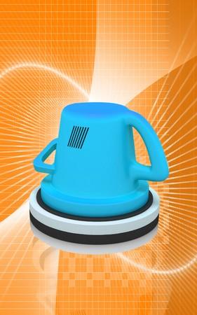 polisher: Digital illustration of polisher in colour background  Stock Photo
