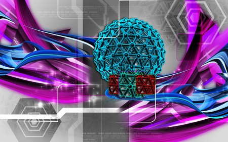 Digital illustration of gene in colour background Stock Illustration - 7469416