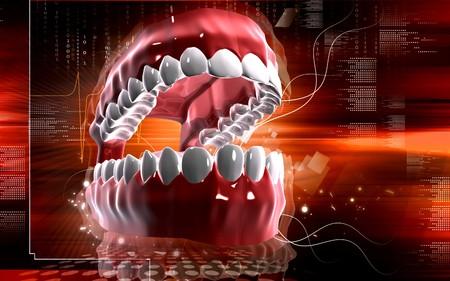 Digital illustration of  Mouth in colour background   illustration