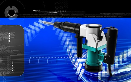 Digital illustration of electric breaker in colour background Stock Illustration - 7479647